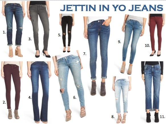 Collage of jeans