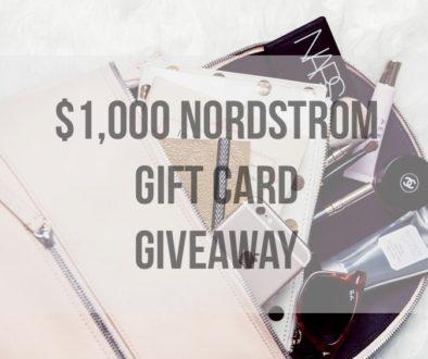 Giveaway Reminder // $1,000 Nordstrom Giftcard