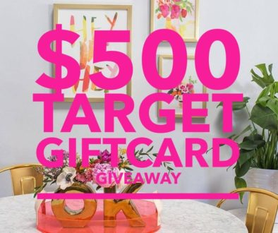Spring Giveaway // $500 Target Gift Card