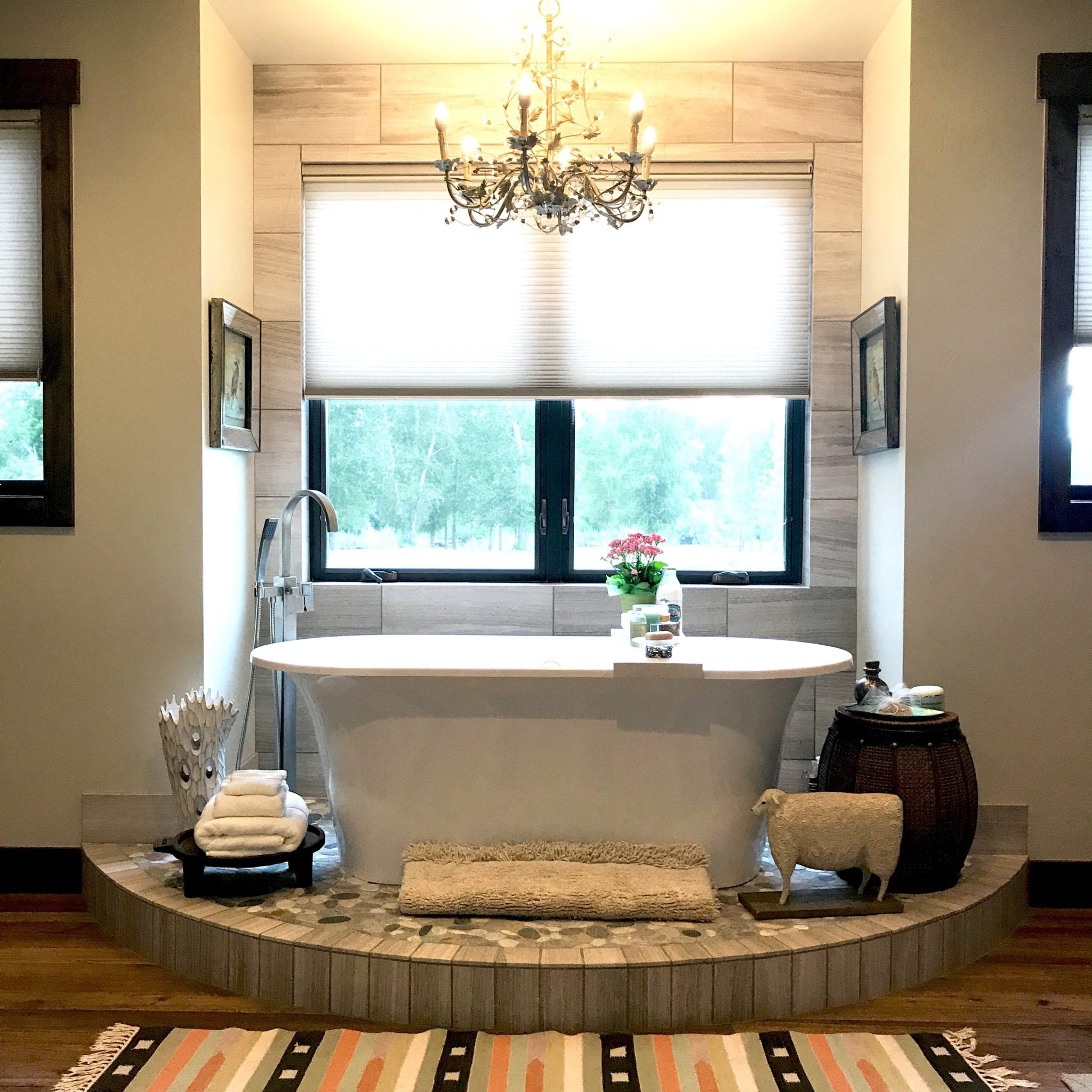 Modern Mountain Master Bathroom