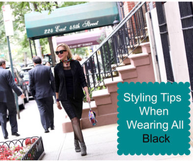 Styling Tips When Wearing All Black