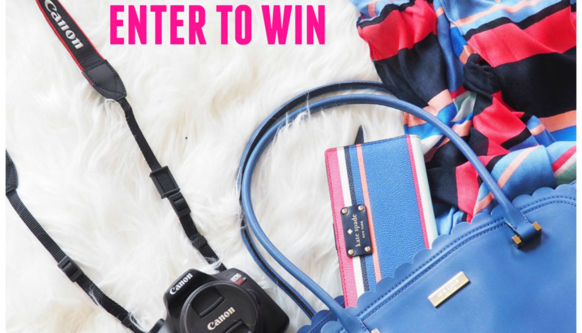 October Giveaway | Cannon Rebel Kit + Kate Spade Handbag + Wallet + Scarf