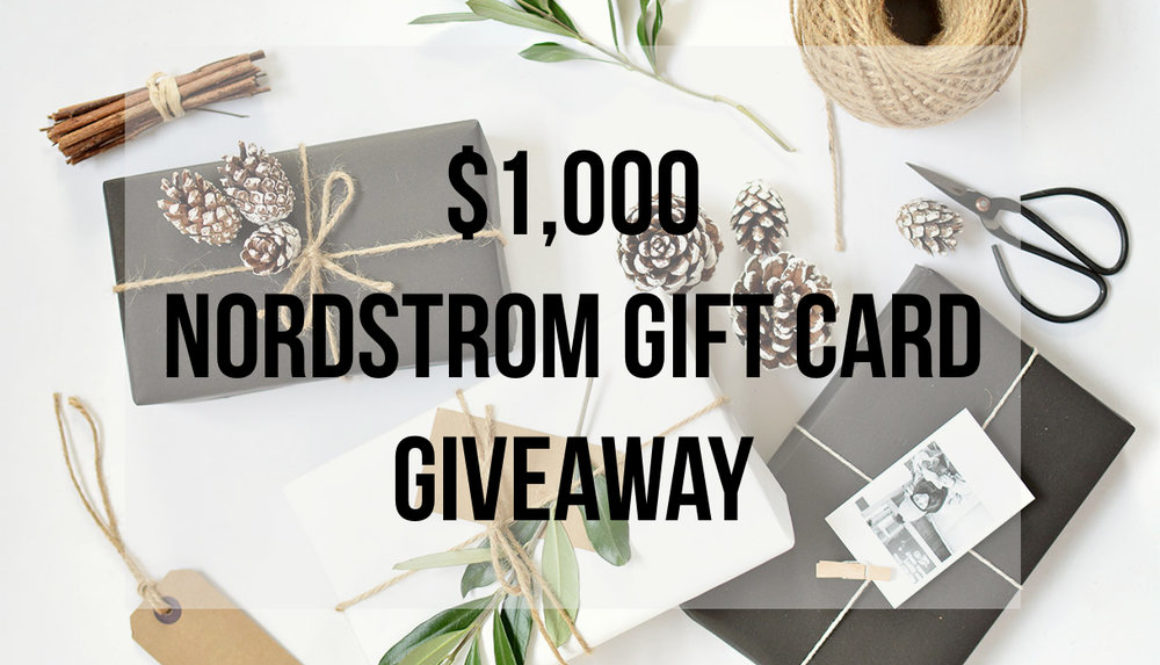 November Giveaway | $1,000 Nordstrom Gift Card