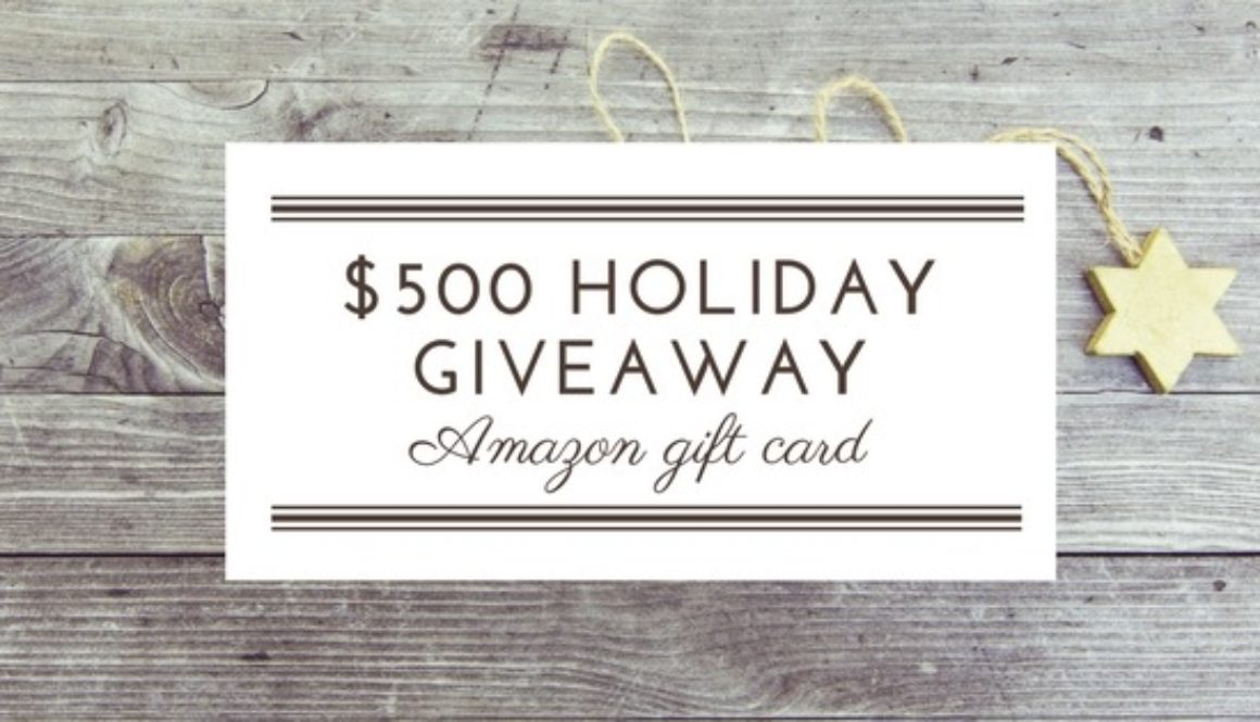 One Last Giveaway This Year || Enter To WIN $500 Amazon Gift Card!!