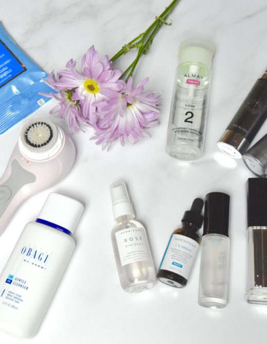 an assortment of skin care products