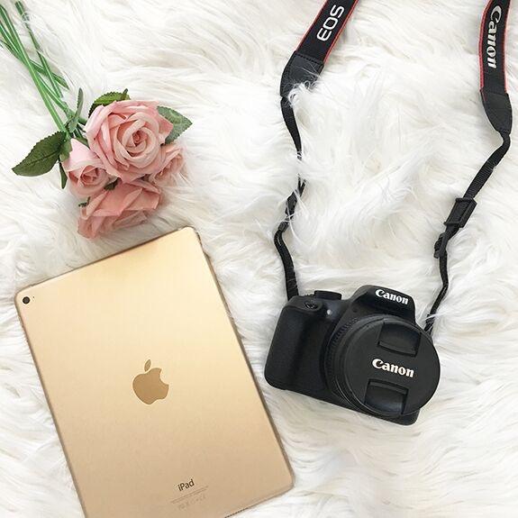 Rafflecopter Giveaway || Rose Gold iPad + Cannon Rebel Kit