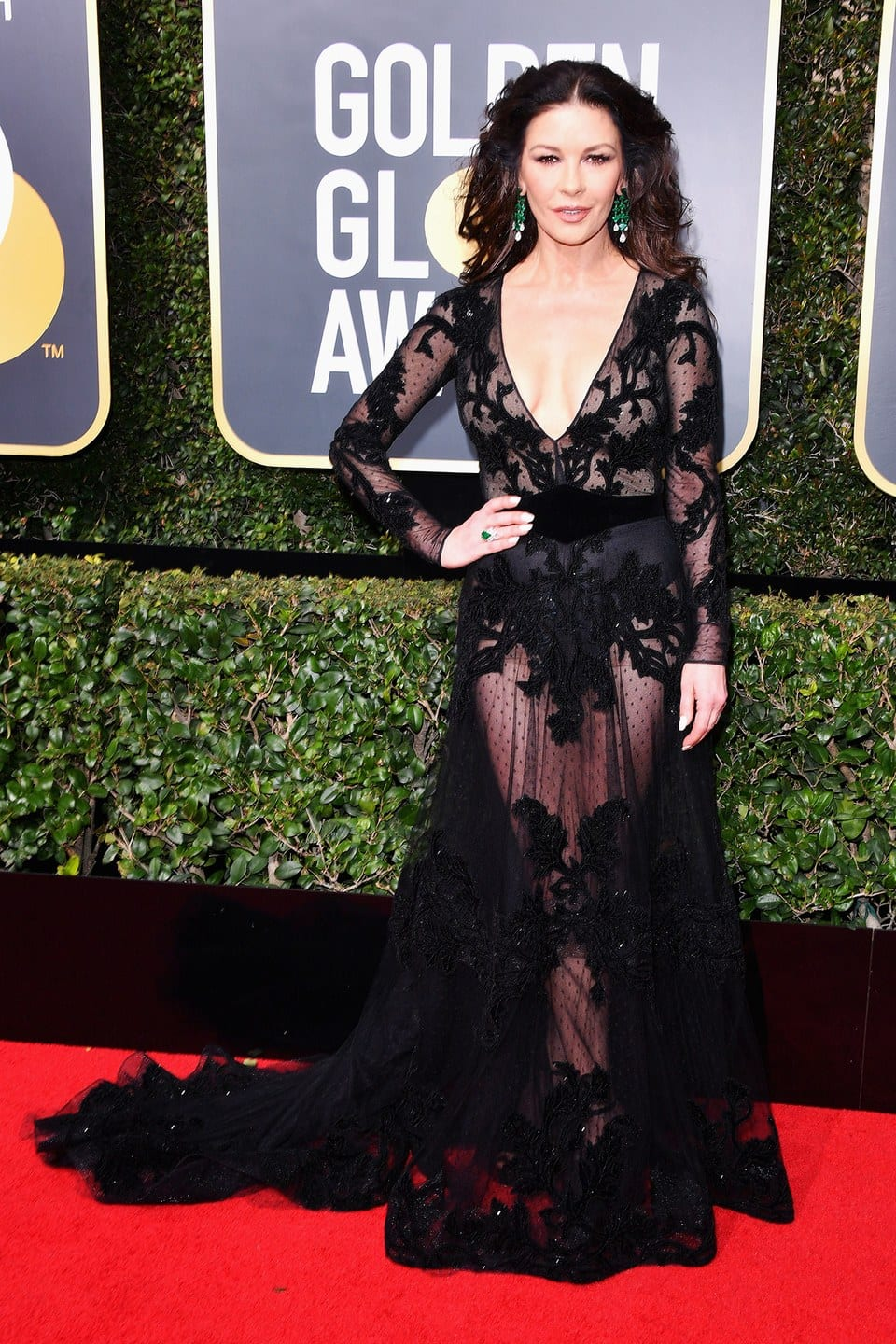 golden globes 2018, best dressed golden globes, Catherine Zeta Jones