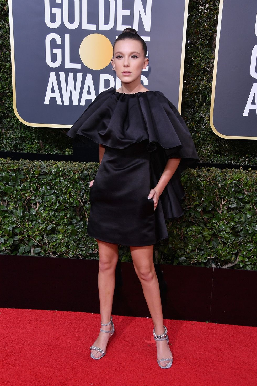 Golden globes 2018, best dressed golden globes, milly bobby brown golden globes