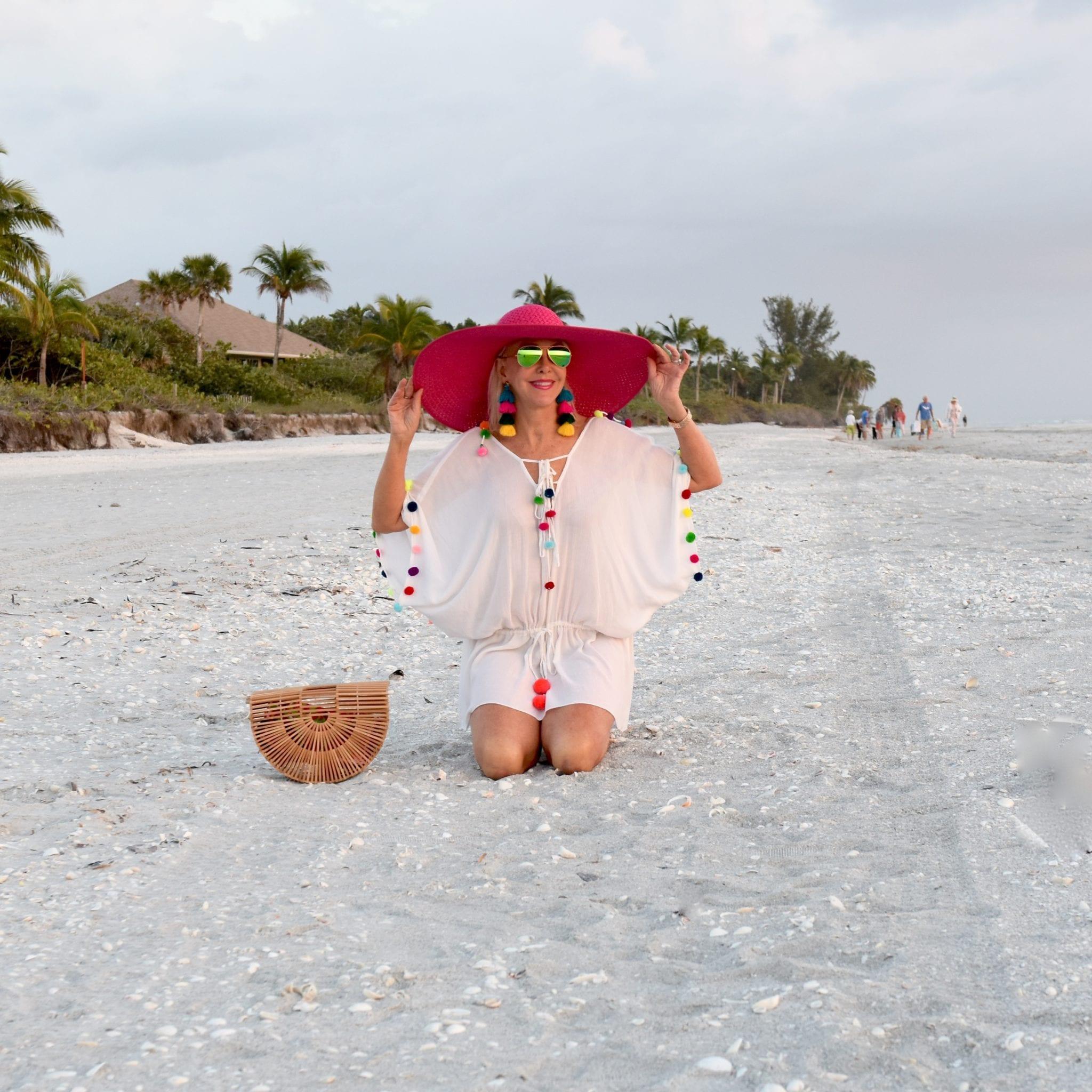 beach coverup, swim coverup, widebrimmed hats, cult gaia,