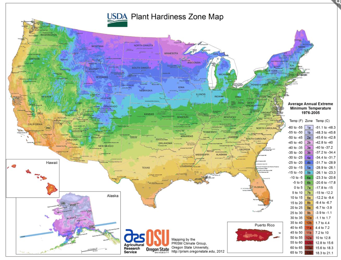 gardening zones, garden zones, gardening