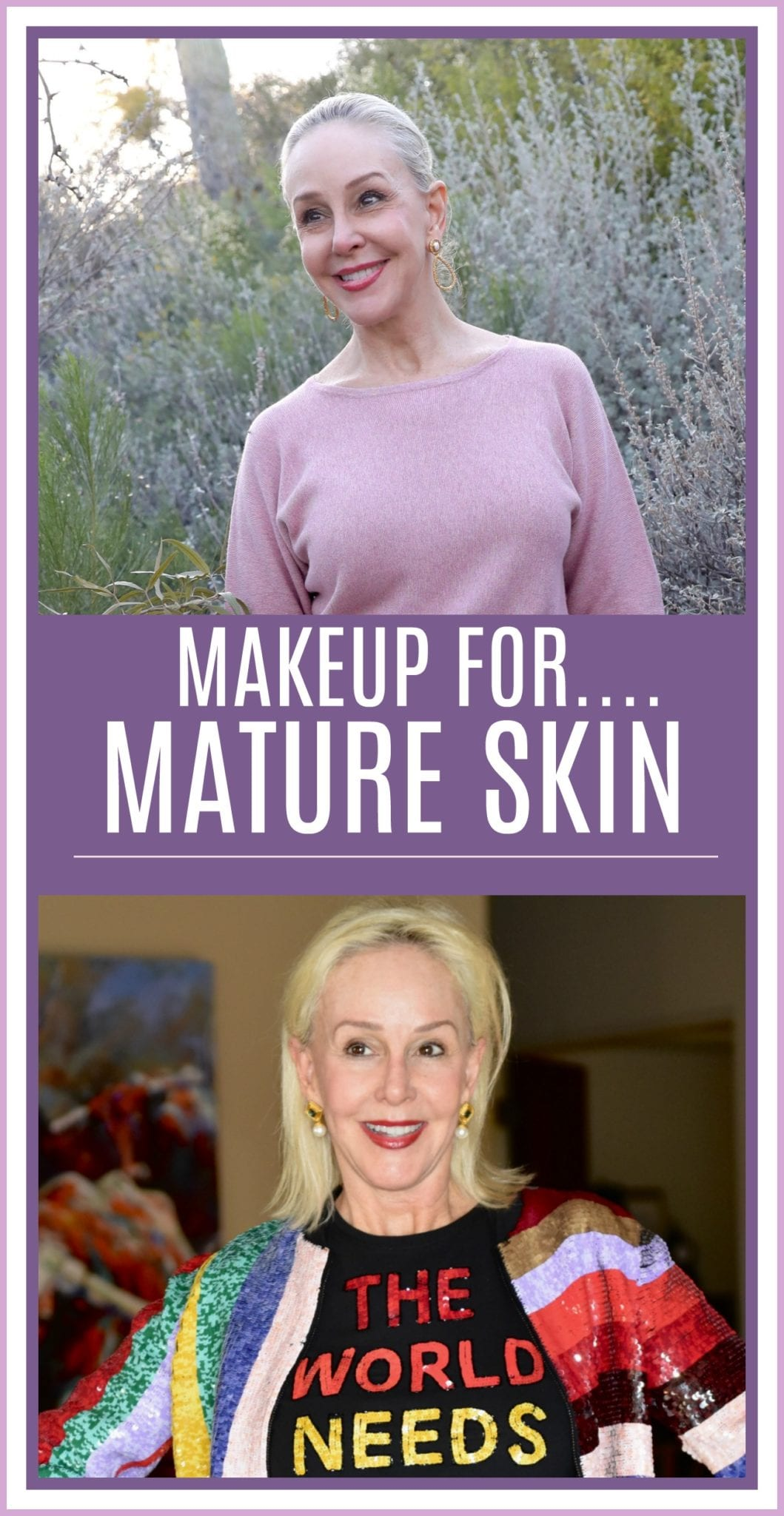 #lookfabulousforever, #makeup, #agingskin, #matureskinmakeup, #beauty