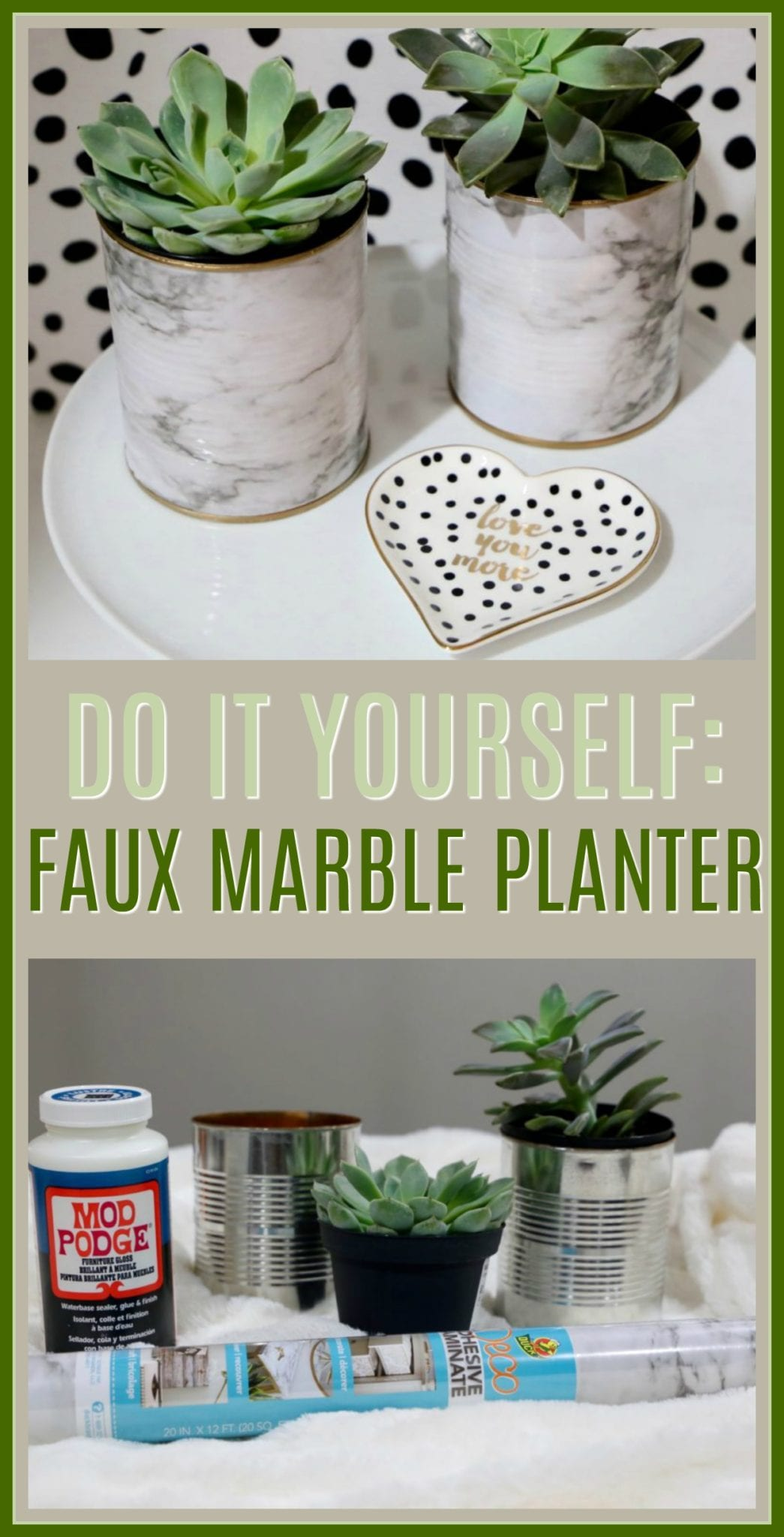 diy planters, crafts, faux marble planters, home decor, crafts