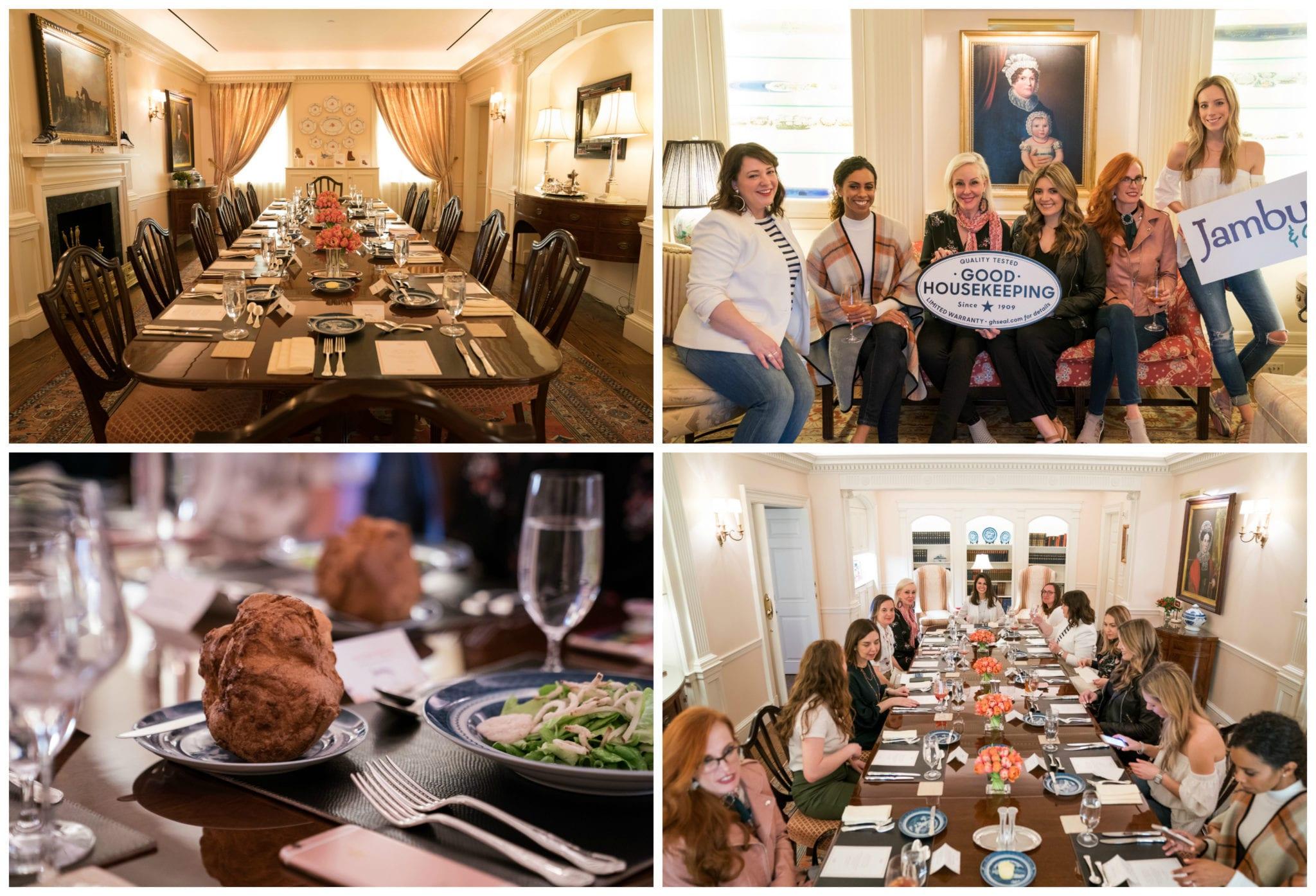 Good Housekeeping Presidents Room, blogger lunch, Jambu Footwear, editors of Good Housekeeping,