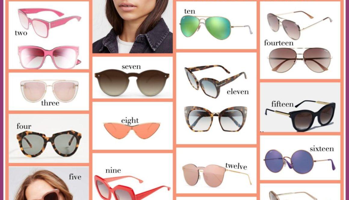 Sunglasses, Sunglasses for face shape, Shapes of sunglasses