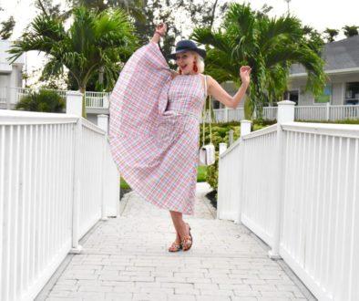 dresses, Eliza J dresses, halter dress, waisted dress, midi dress, plaid