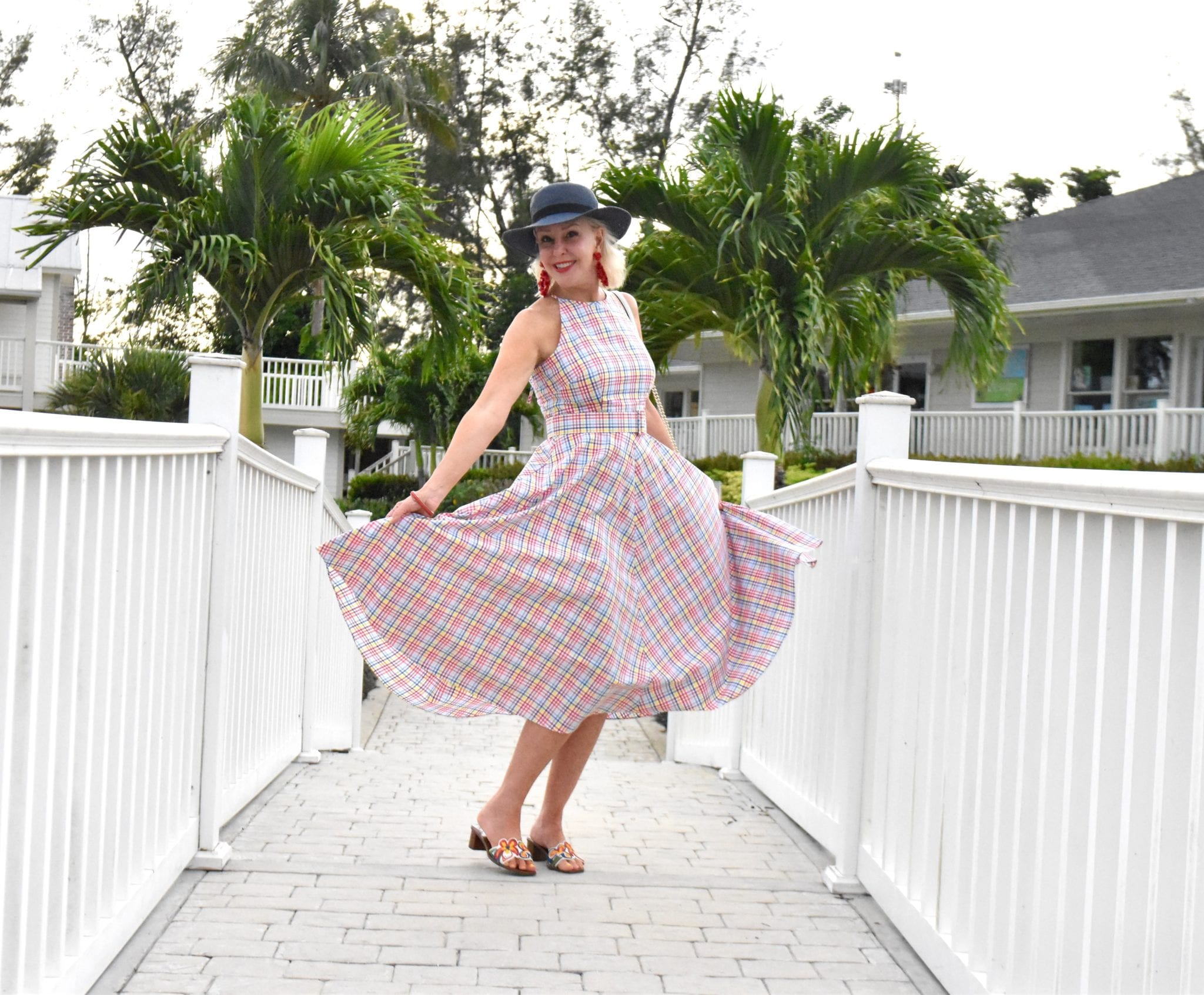 dresses, Eliza J dresses, halter dress, waisted dress, midi dress, plaid