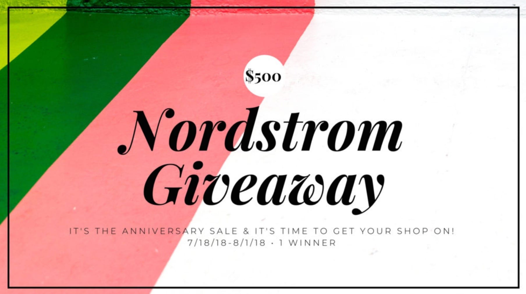 nordstrom sweepstakes enter to win 500 nordstrom gift card giveaway sheshe show 8352