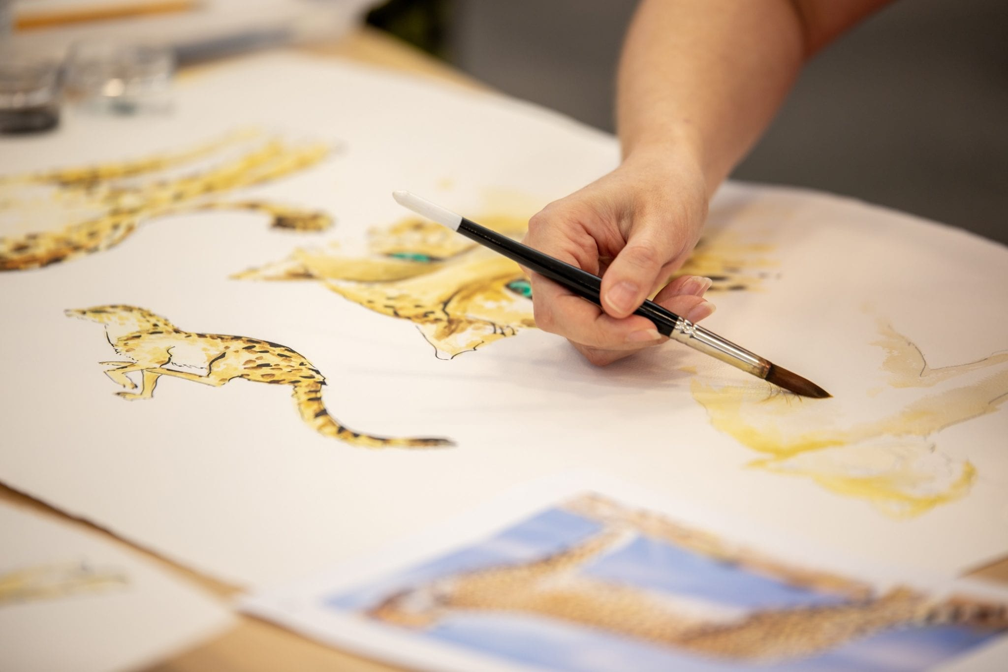 Fabric design department, fabrics, artwork on fabrics, textiles