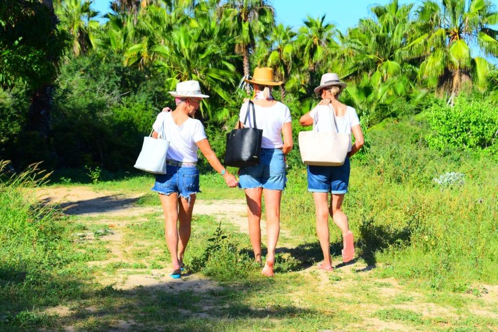 Playa las Palmas, sugarcane, Todos Santos, Gigi New York tote bags,