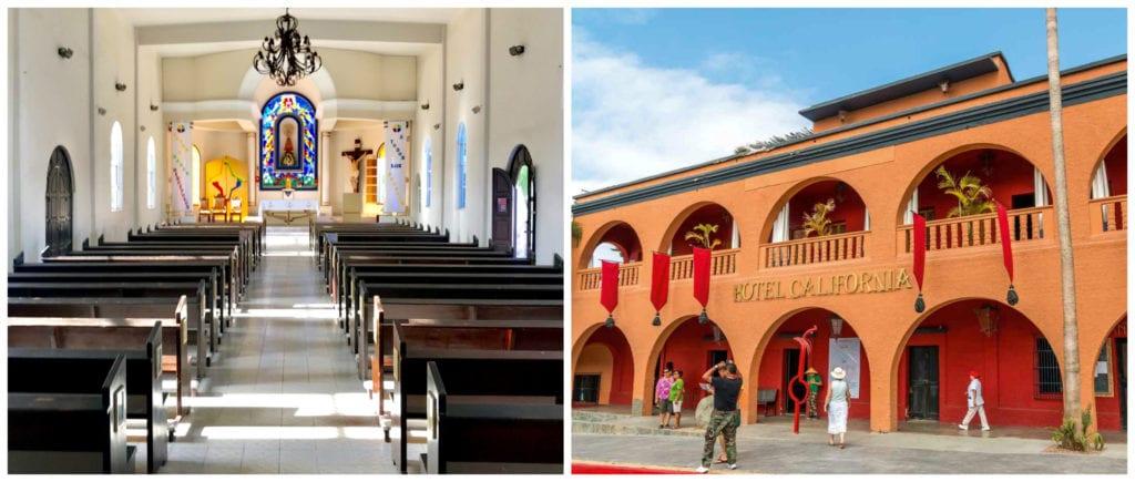 town tour, Hotel California, mission church