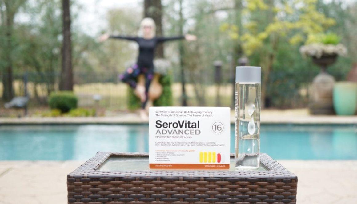 Serovital Advanced, swimming pool, supplements, yoga pose, hormone replacement,