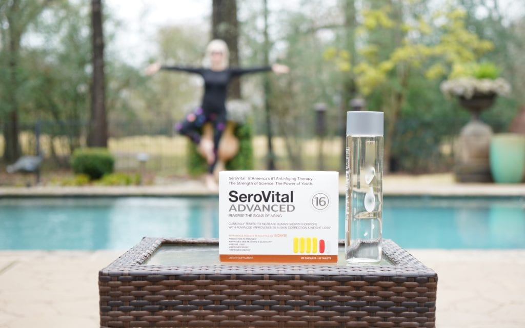 Serovital Advanced, swimming pool, supplements, yoga pose, hormone replacement,