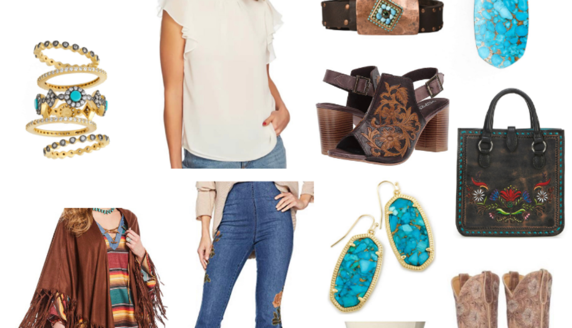 rodeo style boots earrings bell bottoms trends