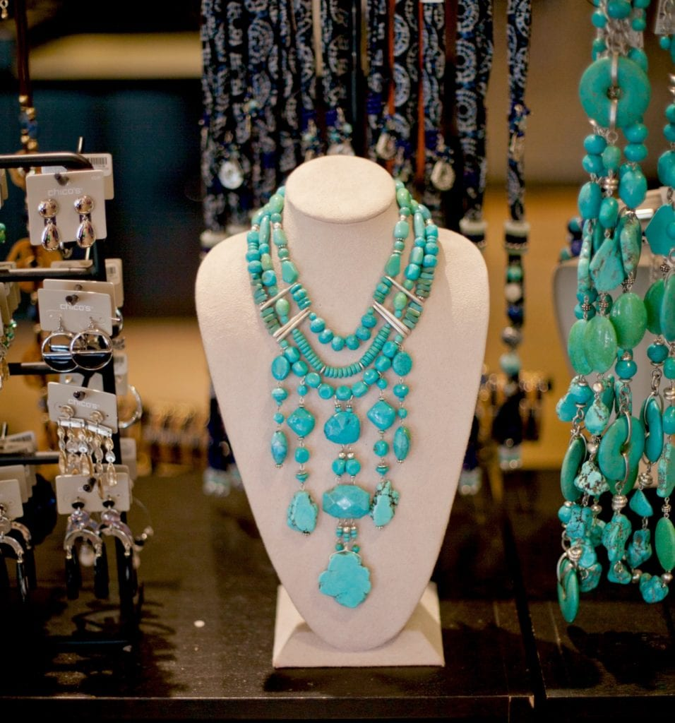 Turquoise necklace Chico's Palm Springs