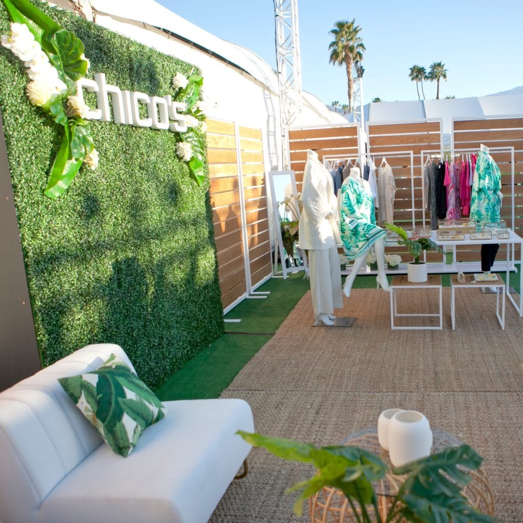 Chico's popup shop Palm Springs Fashion Week