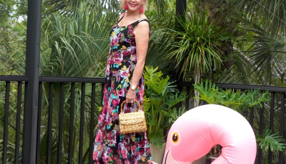 Floral dress, maxi dress, Mother's Day dress, under $60, flamingo