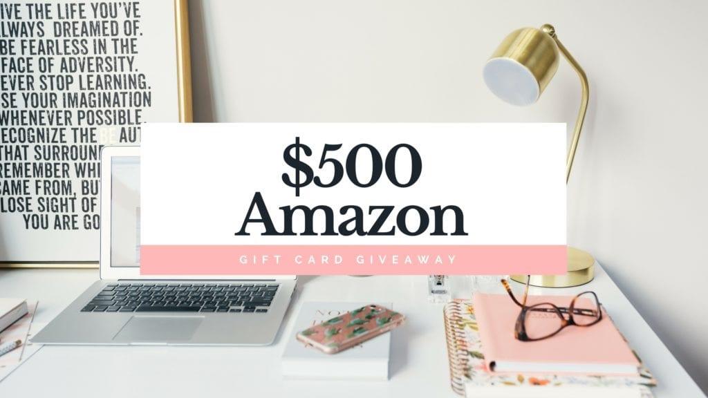 $500 Amazon Giveaway