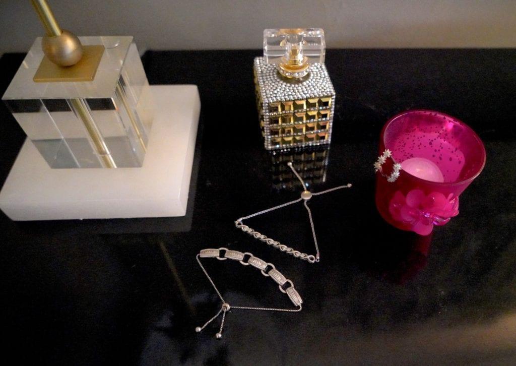 cubic zirconian silver bracelet