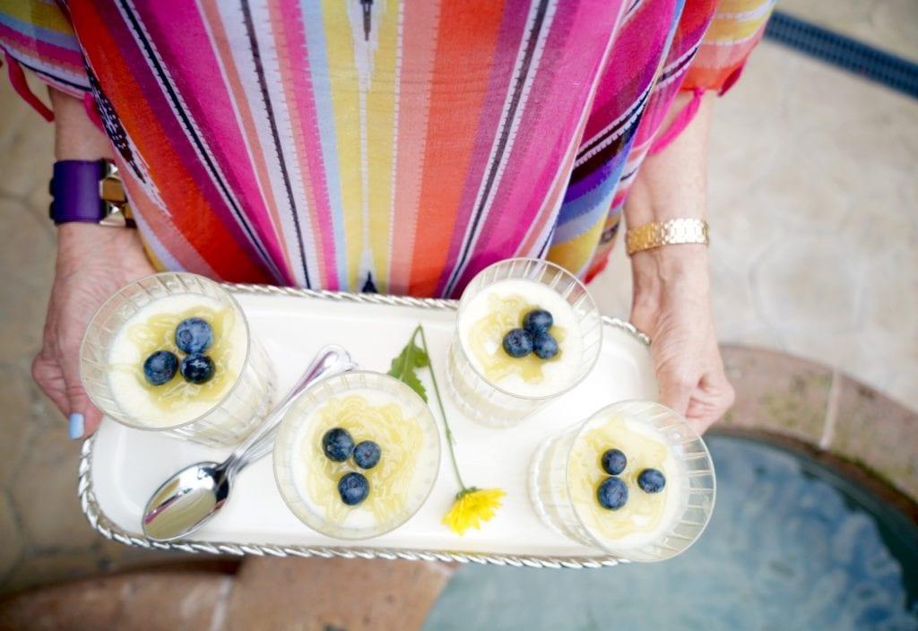 Sheree of the SheShe Show serving Betty Crocker Dessert Treats