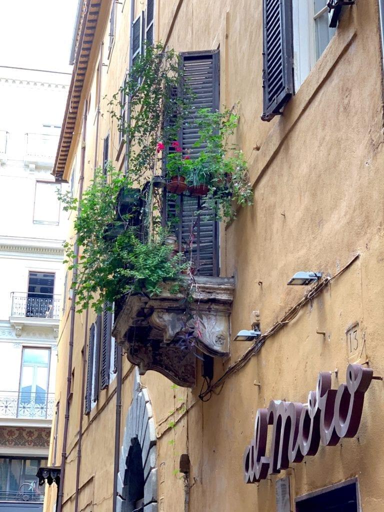 Rome Italy streetside cafe