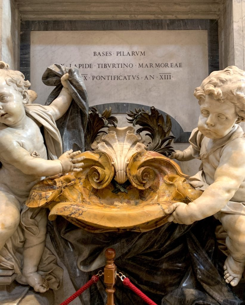 Saint Peter's Basilica Rome Italy cherubs