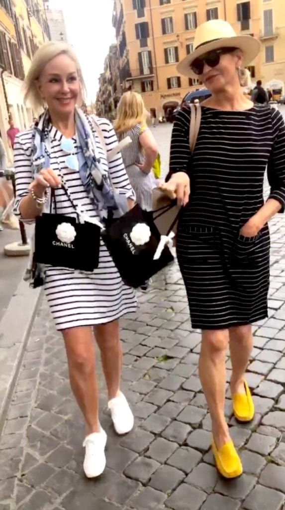 Jamie of More Than Turquoise & Sheree of SheShe Show shopping Chanel Rjome, Italy