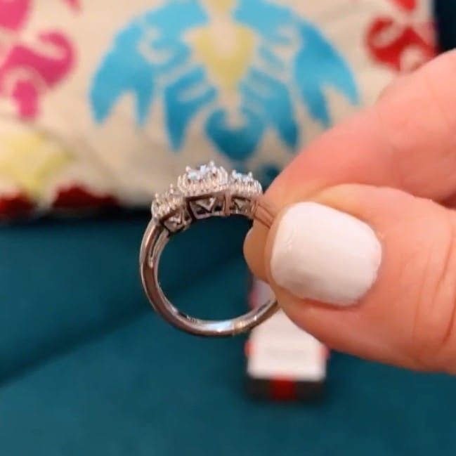 affordable diamond engagement ring set in sterling silver