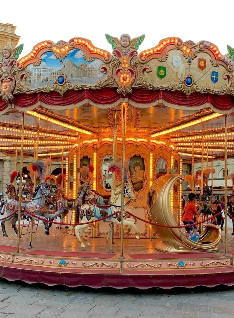 carousel in Florence, Italy