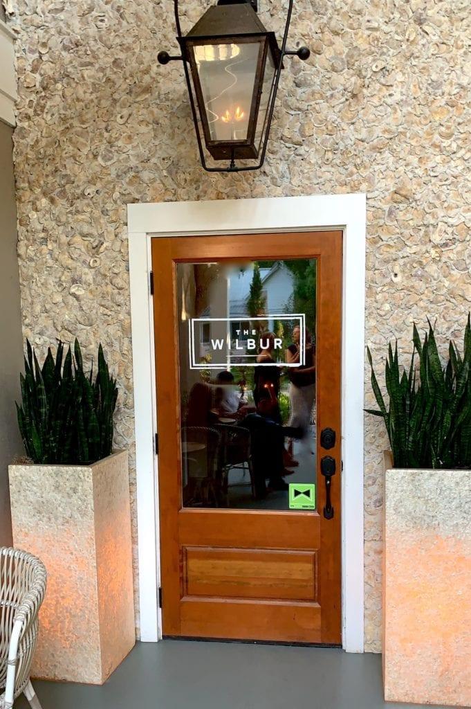 Front door of the Wilbur Bar