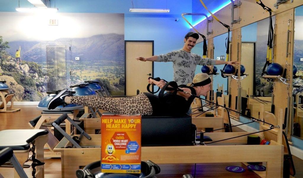 Sheree Frede of the SheSheShow doing pilates