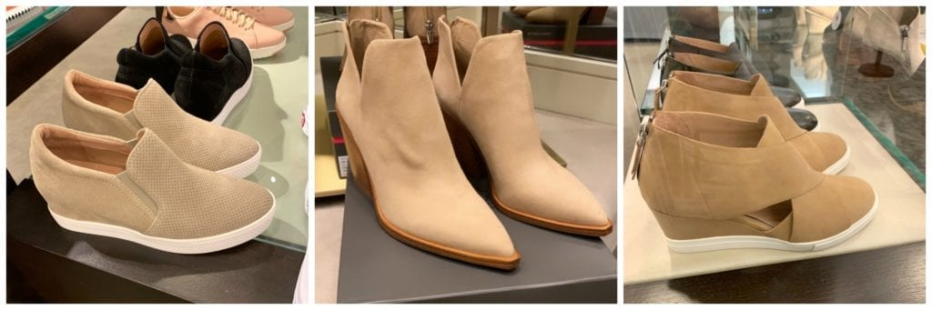 3 pair of tan suede booties at Nordstrom