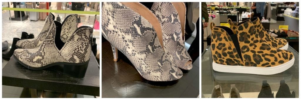 Python and leopard booties at Nordstrom