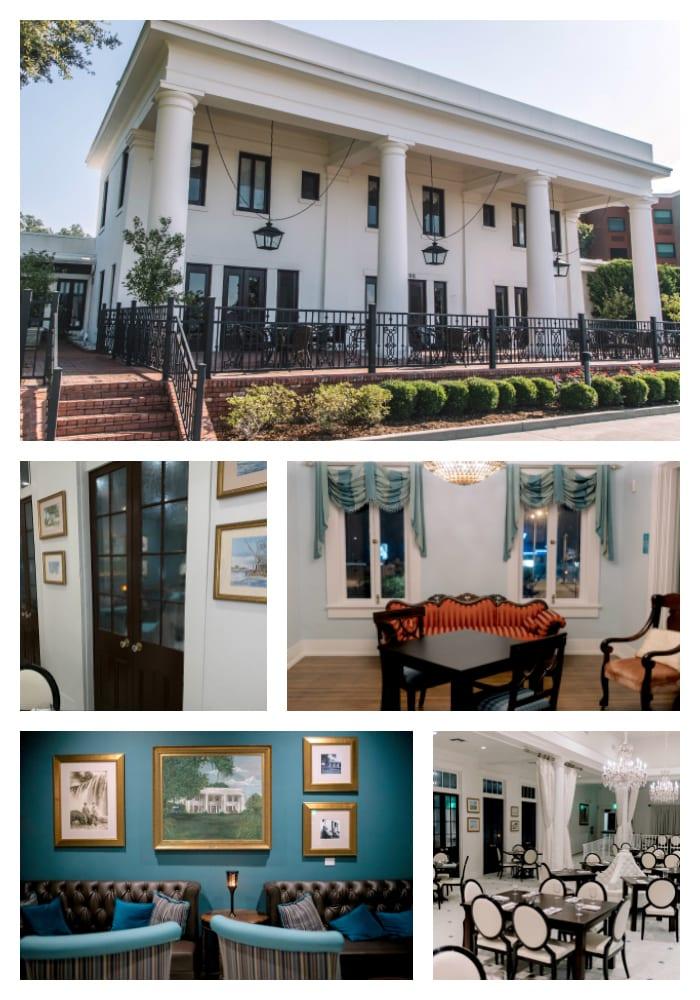 White Pillars, historical home, antiques, restaurant