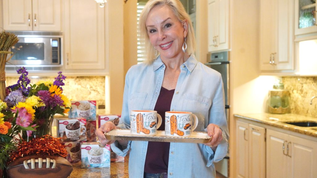 Sheree of the SheShe Show serving up Betty Crocker Mug Treats