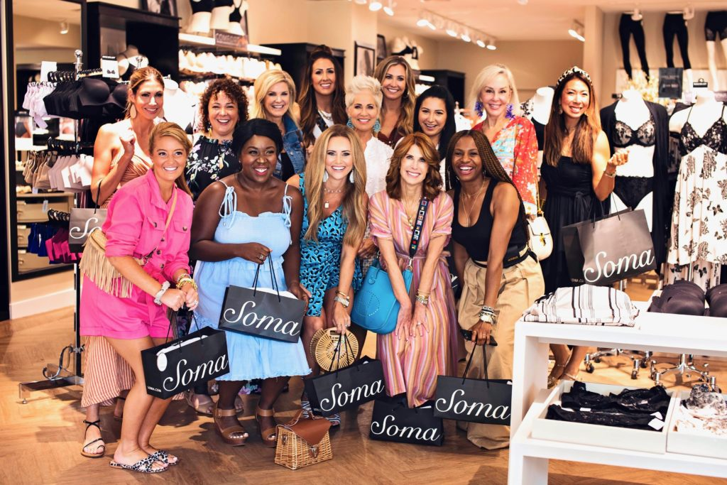 Influencers shopping at Soma boutique