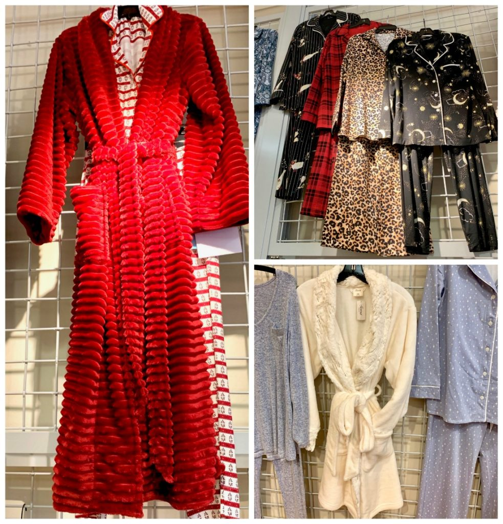 Soma holiday collection, red robe, white robe, pajamas