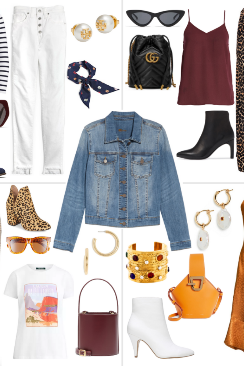 four ways to wear a denim jacket