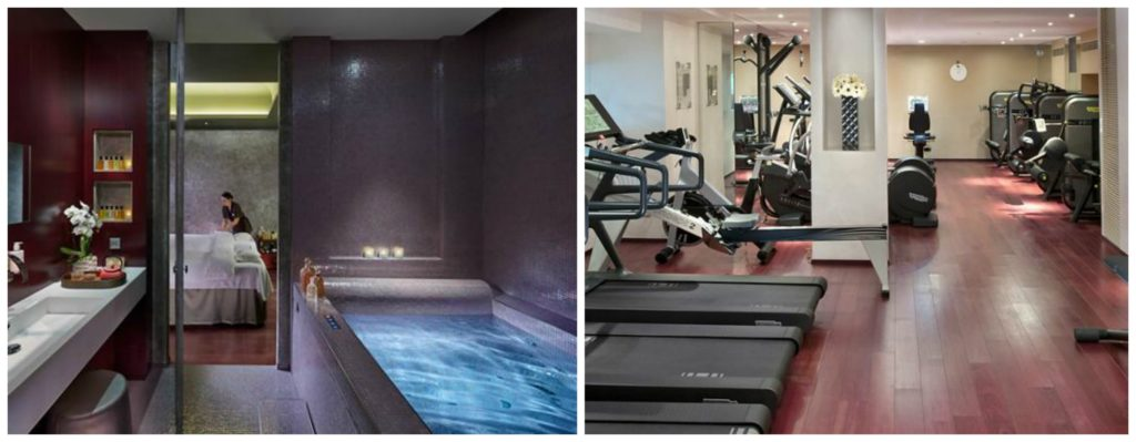 Mandarin Oriental Paris spa and workout