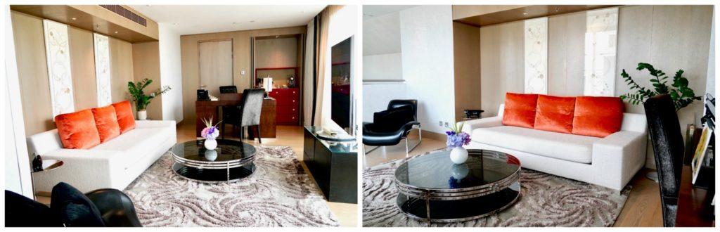 Mandarin Oriental Paris hotel living room suite