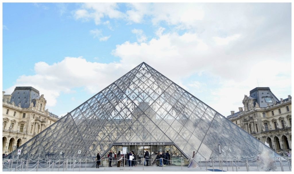 pyramid at the Louvre in Paris